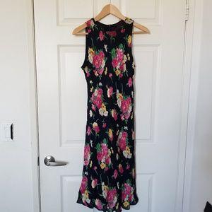 Ralph Lauren Petite Sleeveless Silk Dress Size 12P